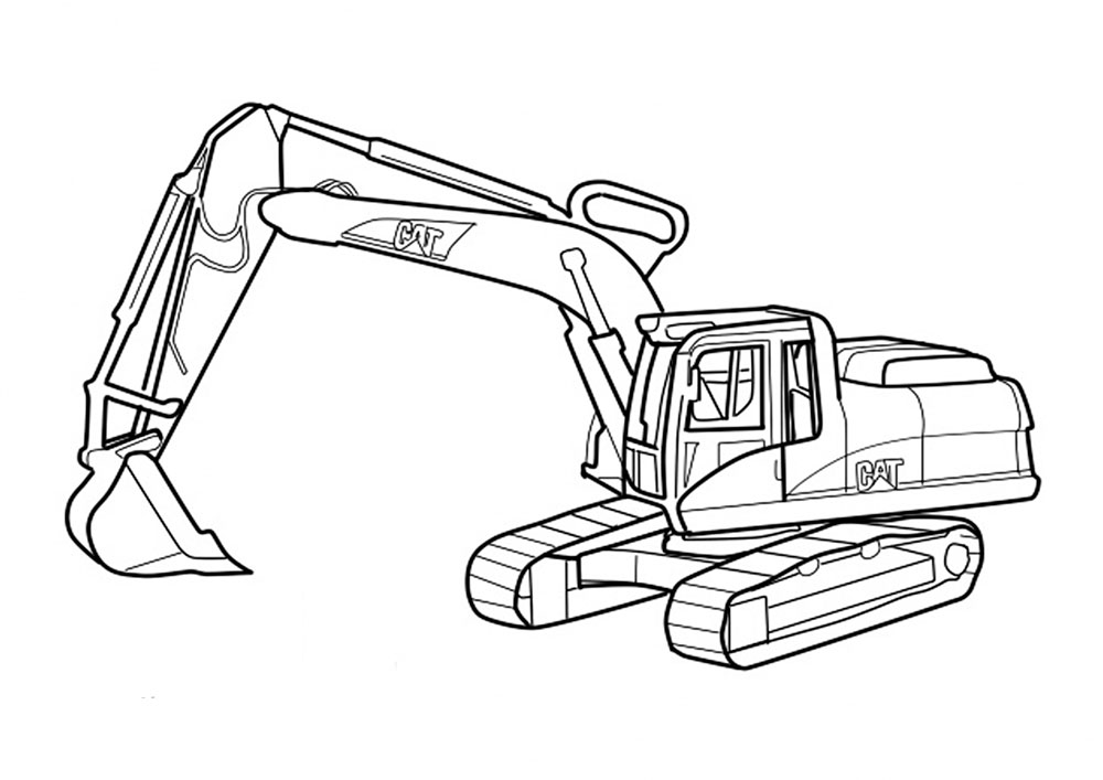 excavator coloring pages to print - photo#22