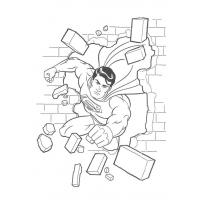 Superman logo coloring pages