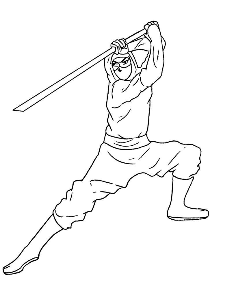 ninja coloring pages - Ninja Coloring Pages