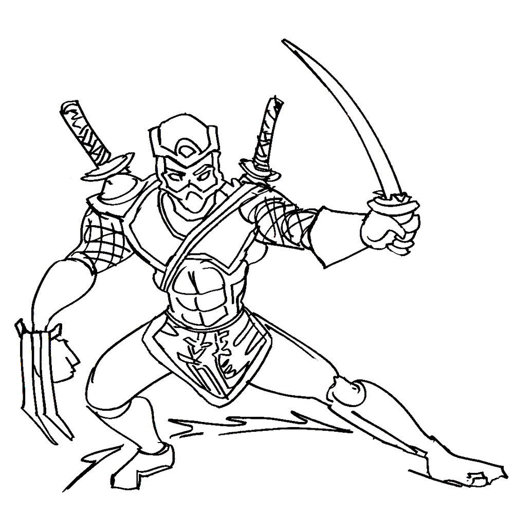 ninja coloring pages - Ninja Coloring Page