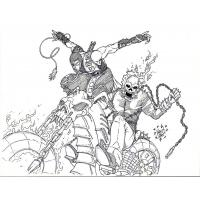 Ghost rider coloring pages