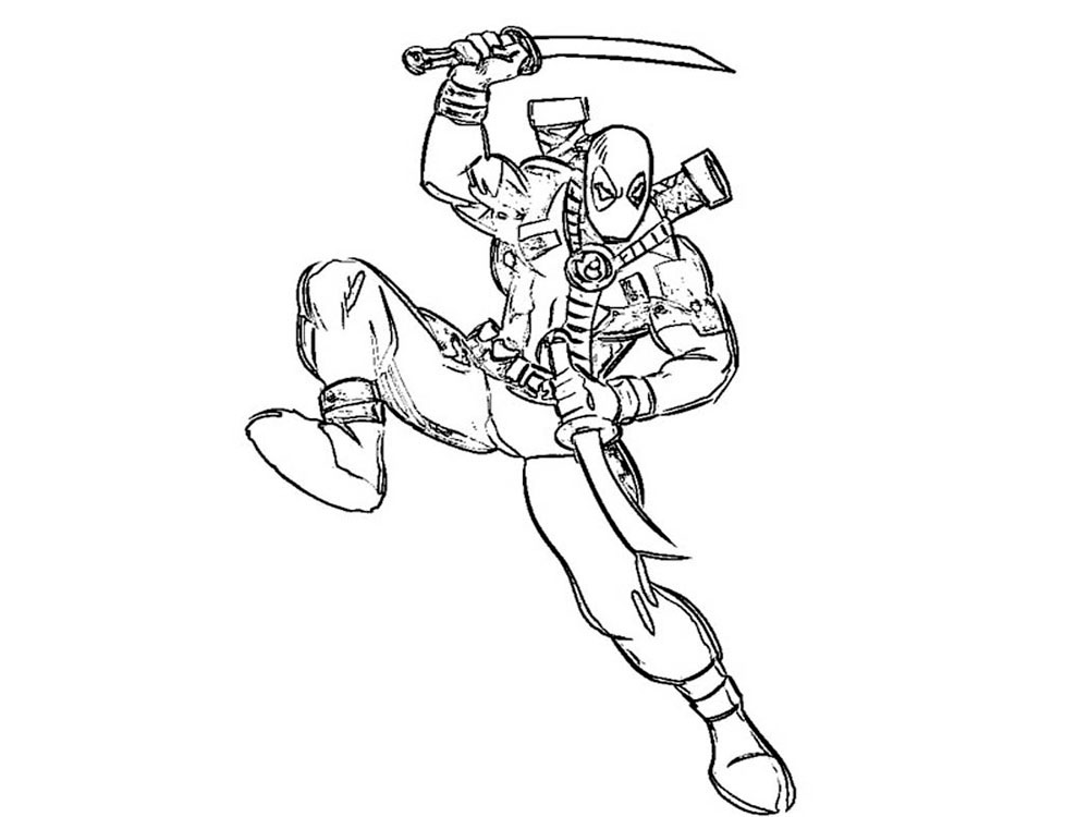 Emejing Deadpool Coloring Pages Printable Images Coloring Page