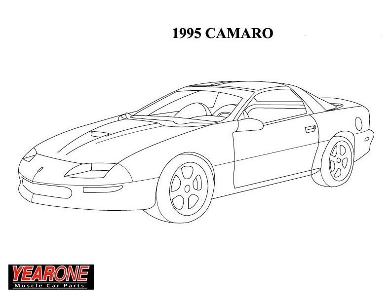 Rod Coloring Pages 69 Camaro Coloring Pages
