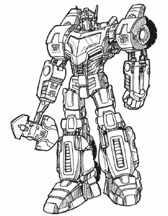 transformers coloring pages - Optimus Prime Truck Coloring Page