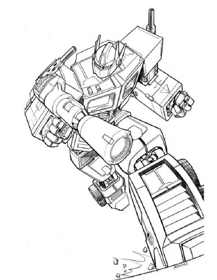 coloring pages - Optimus Prime Truck Coloring Page
