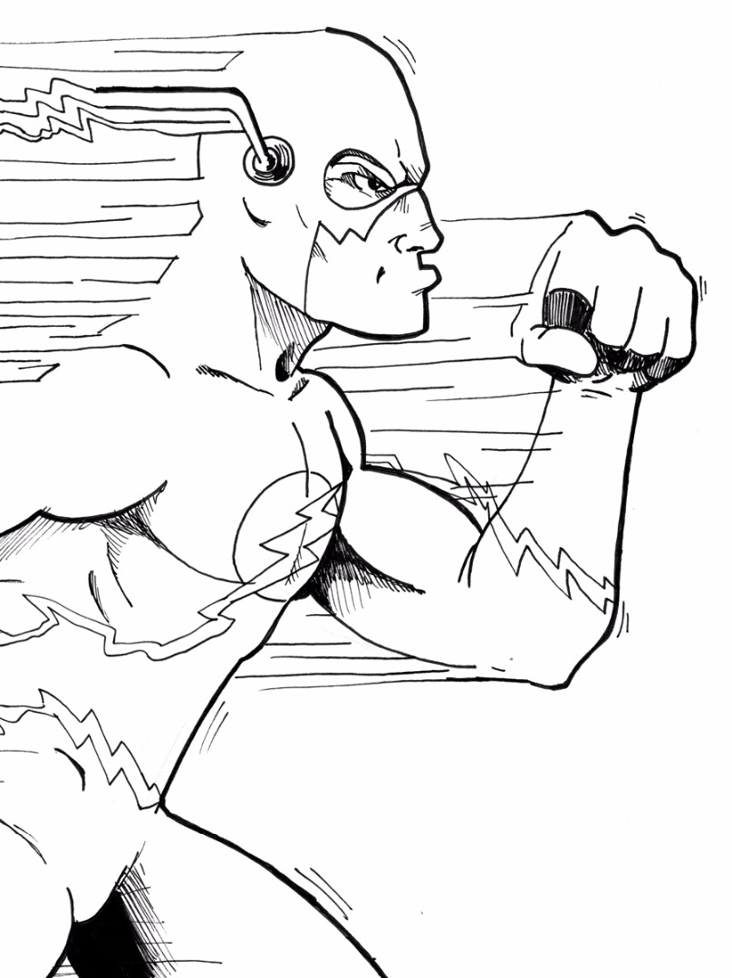 comics flash coloring pages