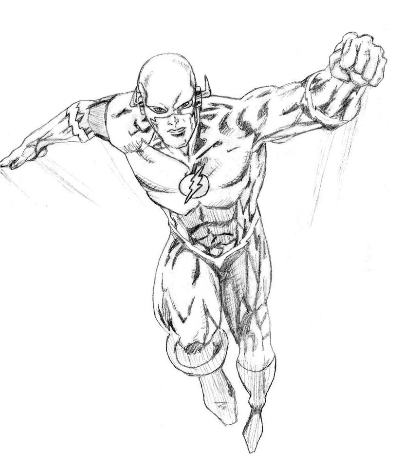 dc comics flash coloring pages - The Flash Coloring Pages