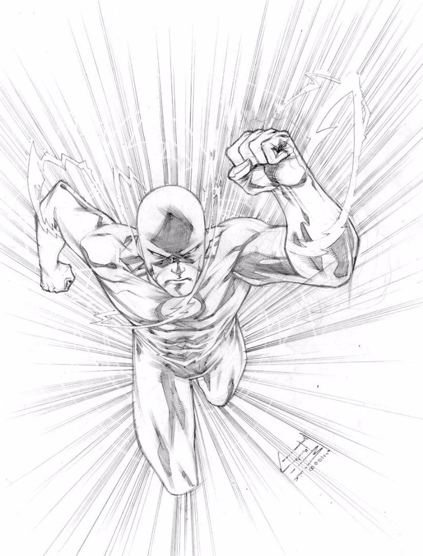 Dc Comics Flash Coloring Pages