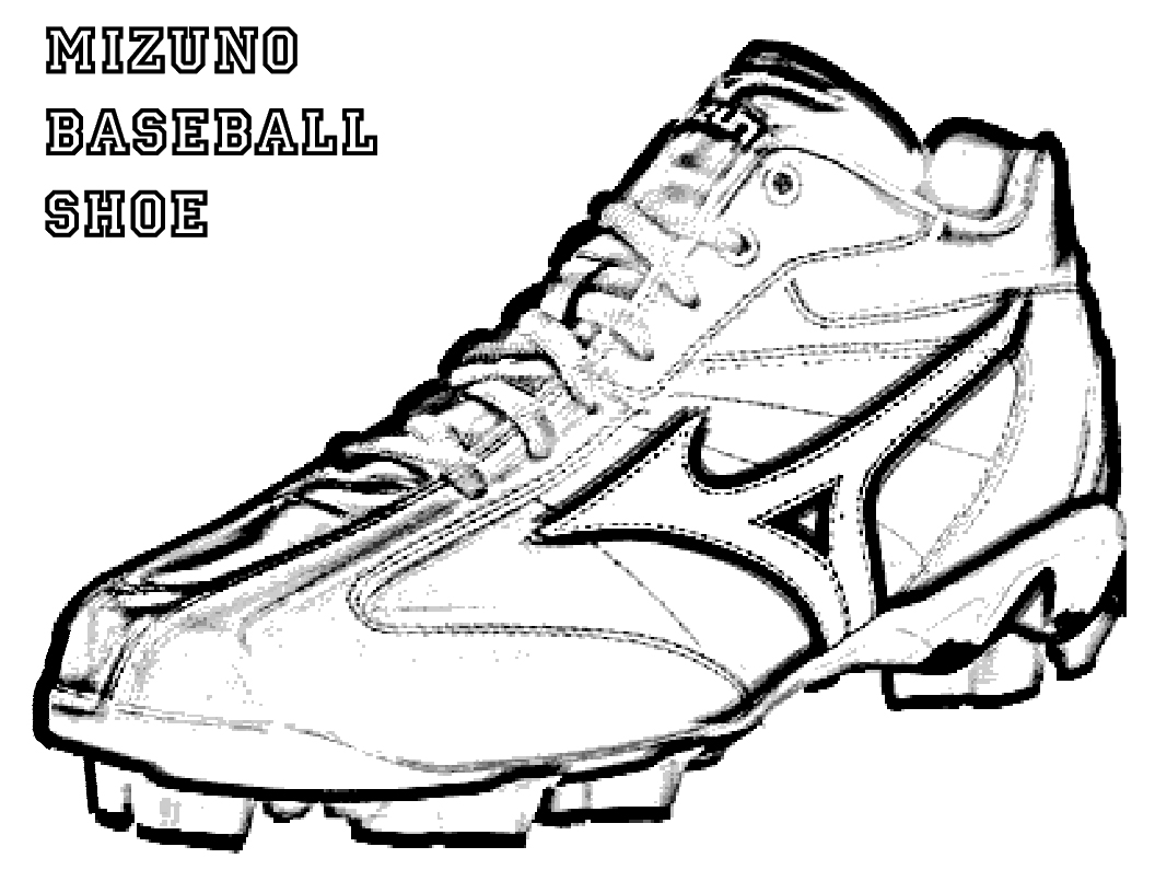 Nike basketball shoes coloring pages - Basketball Shoe Coloring Pages