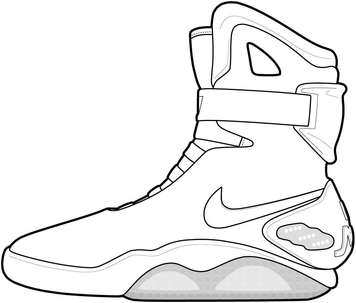 Free Basketball shoe coloring pages to print for kids. Download, print ...