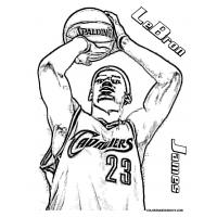Lebron James coloring pages