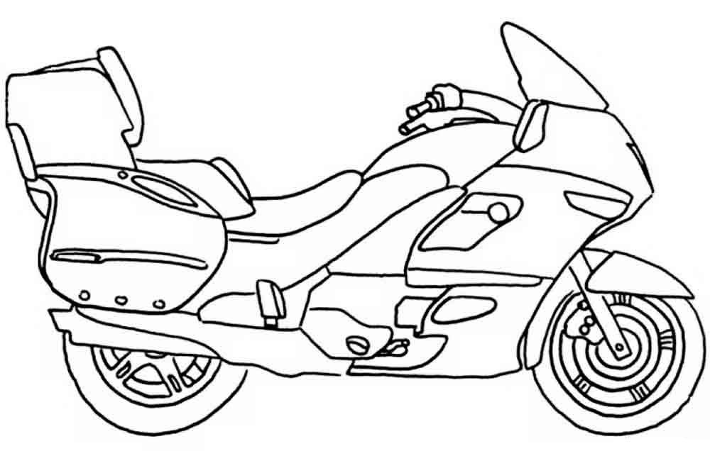 Раскраски для мальчиков онлайн мотоциклы