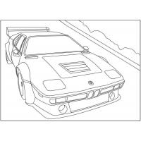 Bmw coloring pages