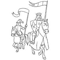 Knight coloring pages