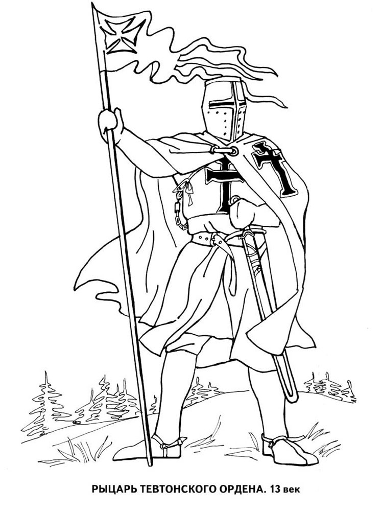 fiver knights coloring pages | Knight coloring pages