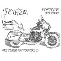 Harley davidson coloring pages
