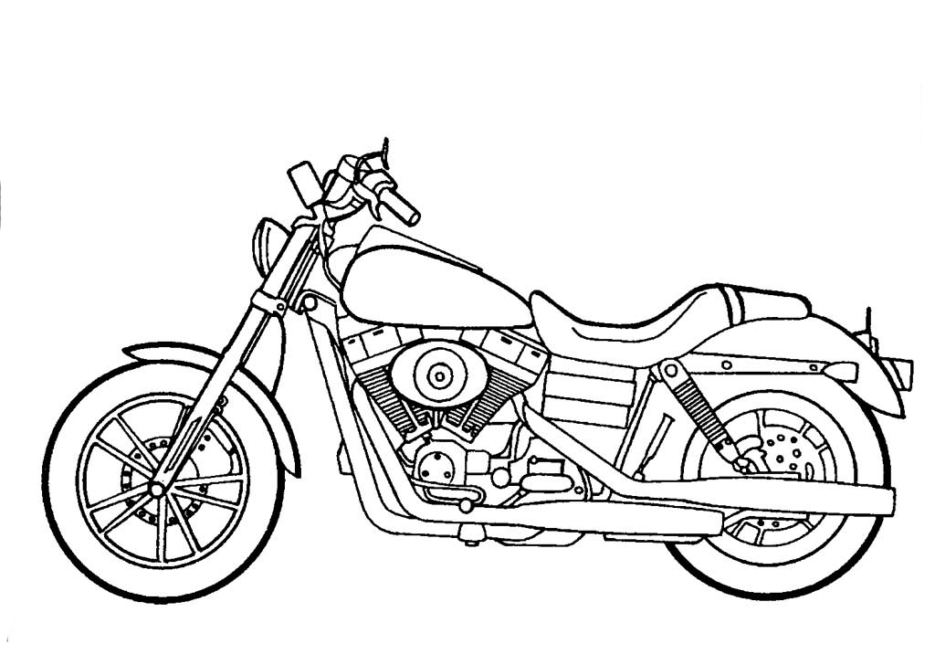 harley coloring pages - photo#9