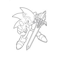Sword coloring pages