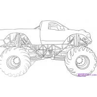 Monster truck coloring pages