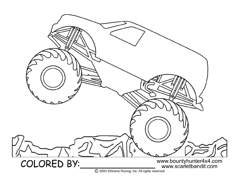 superman monster truck coloring pages - photo#31