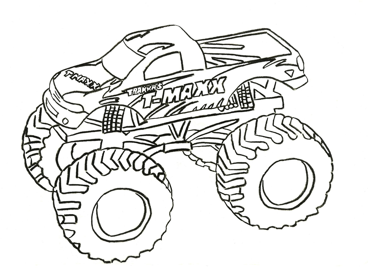 monster truck coloring pages - Monster Truck Coloring Pages