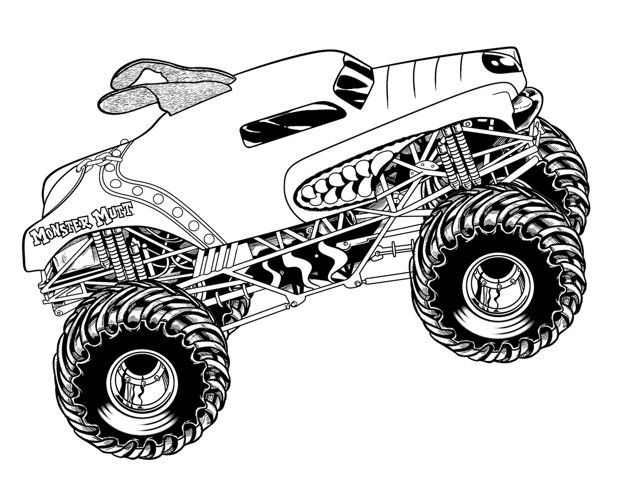 Coloring Pages Of Police Car : Truck coloring pages