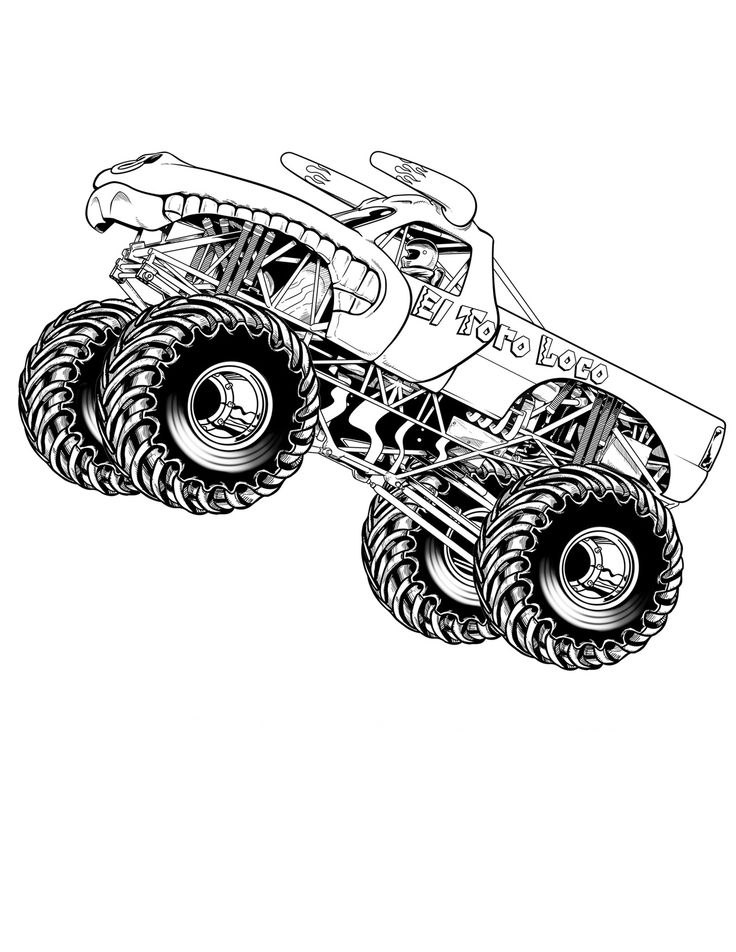 monster truck coloring pages maximum destruction monster truck