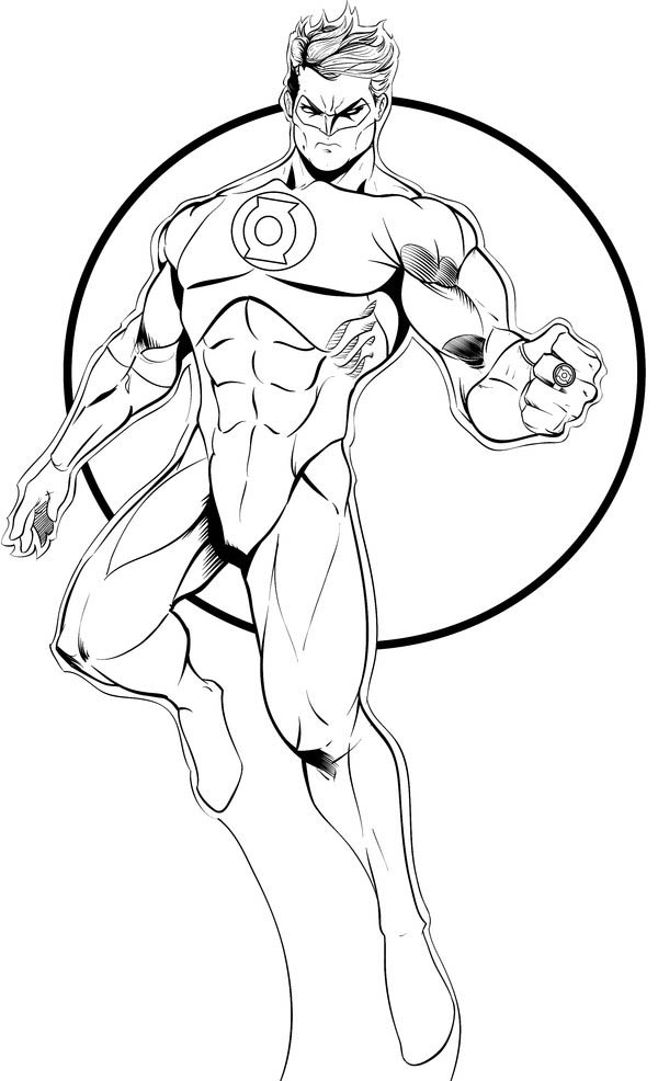 green lantern coloring pages - Aquaman Coloring Pages