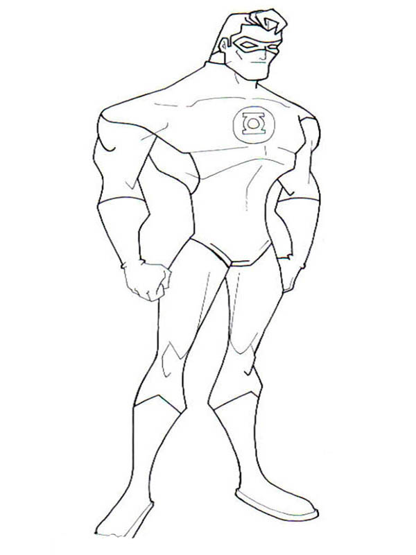 green lantern coloring pages - Lego Green Lantern Coloring Pages