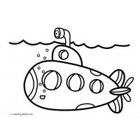 Submarine coloring pages