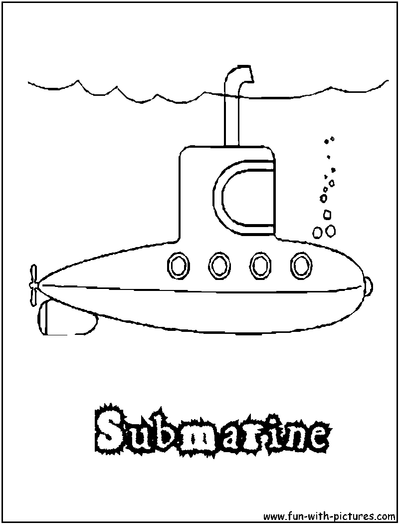 submarine coloring pages - Submarine Coloring Pages Print