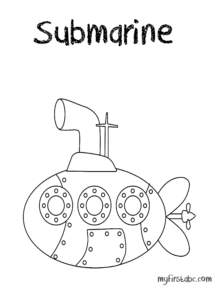 submarine coloring pages to print for kids and