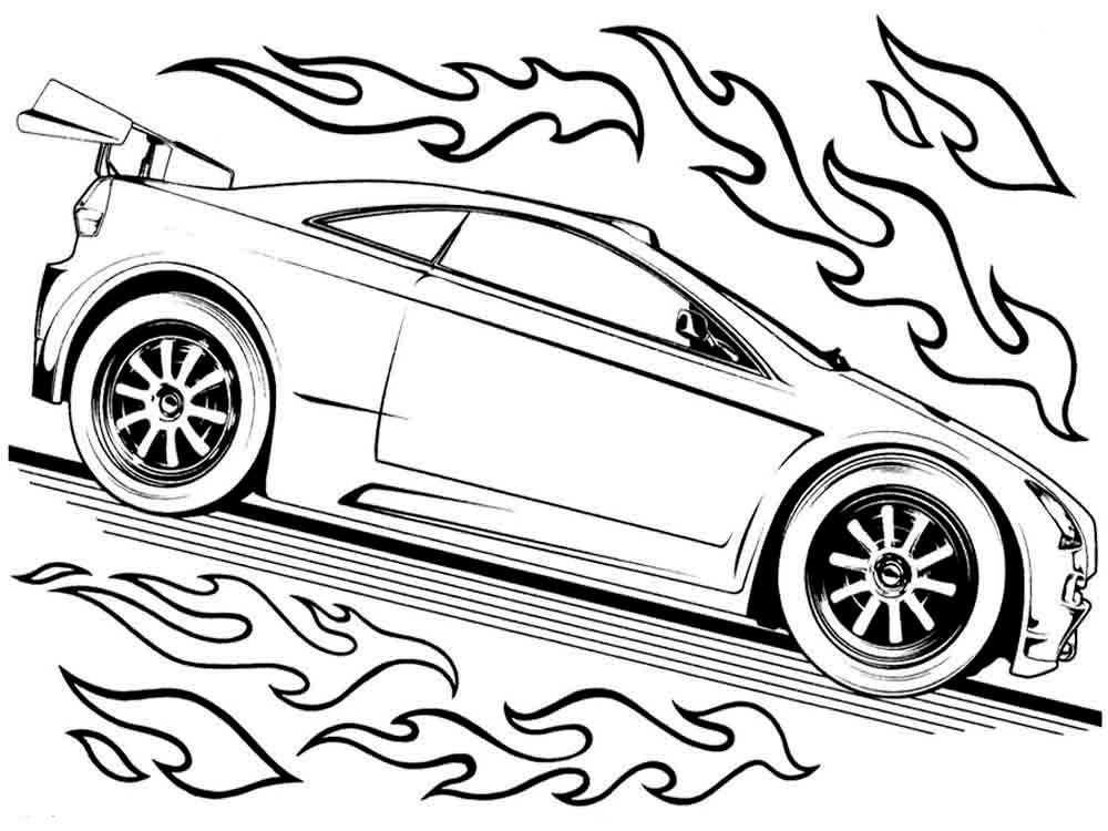 Hot wheel coloring pages for Wheel coloring page