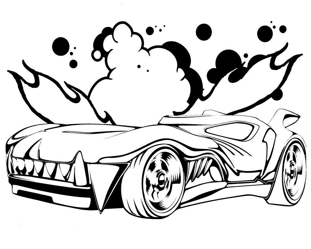 Машинки хот вилс раскраска распечатать