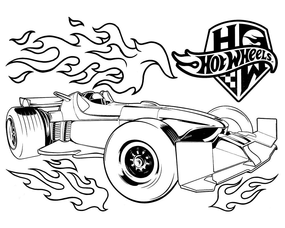 Online coloring hot wheels - Hot Wheel Coloring Pages