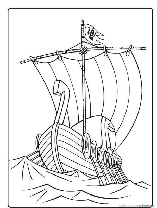 viking coloring pages - Viking Coloring Pages