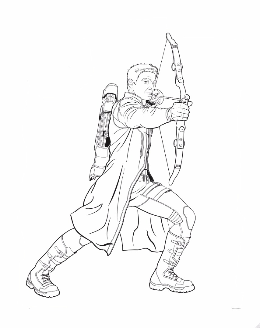 Uncategorized Hawkeye Coloring Pages coloring pages hawkeye pages