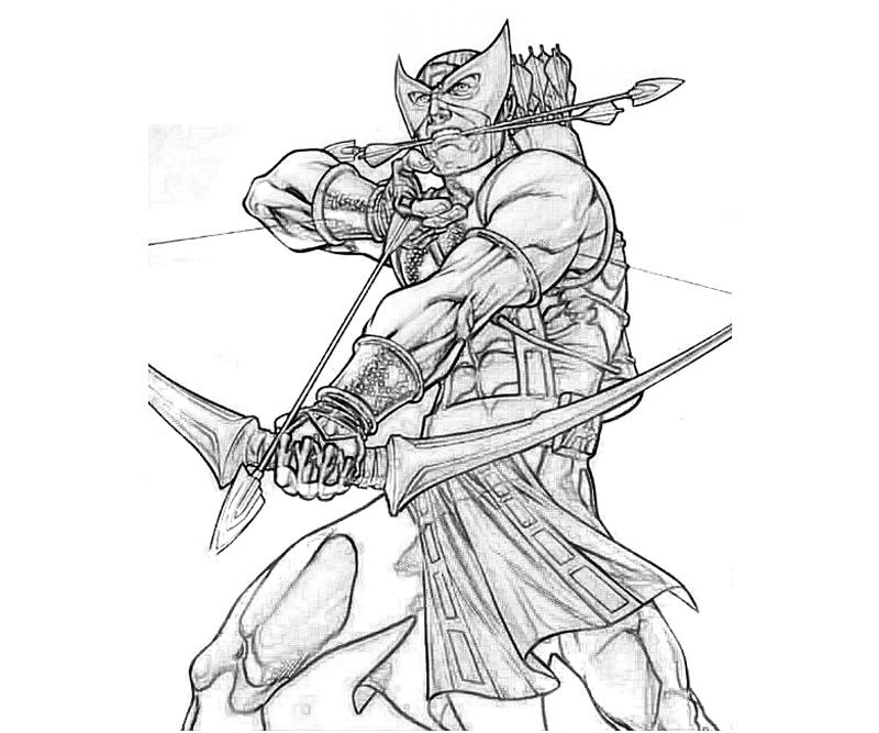 Hawkeye Coloring Pages Elioleracom