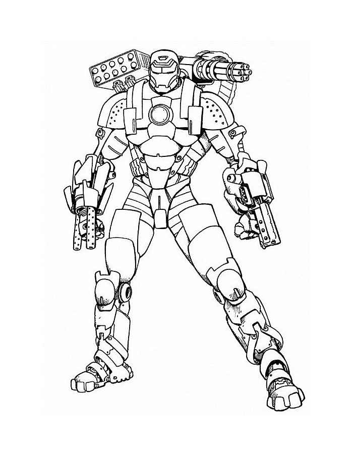 Coloring Pages Ironman Coloring Page