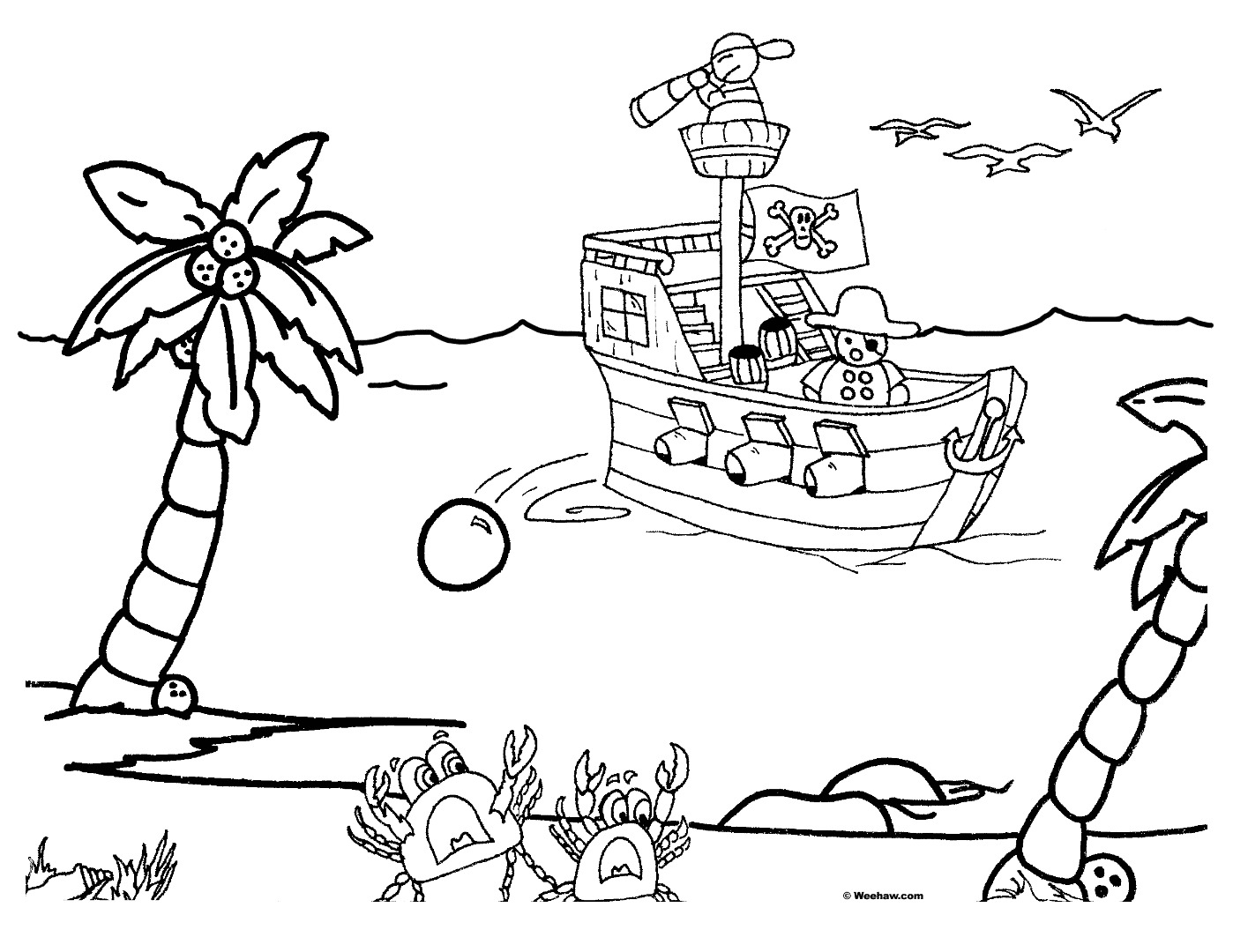 printable pirate coloring pages best 2017