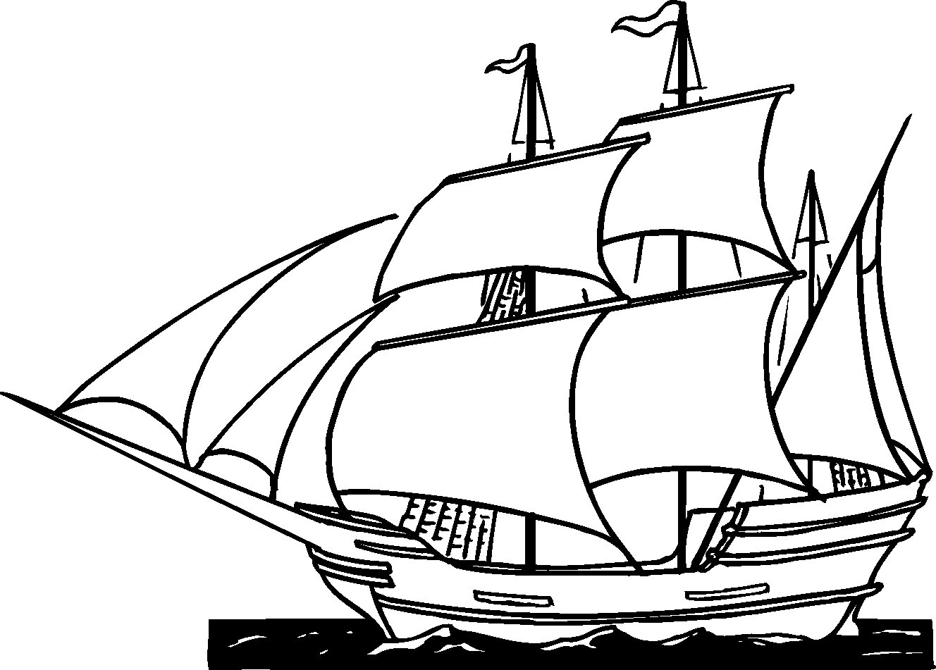Ship Coloring Pages Pirate Ship Coloring Page