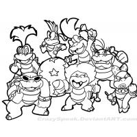 Mario bowser coloring pages
