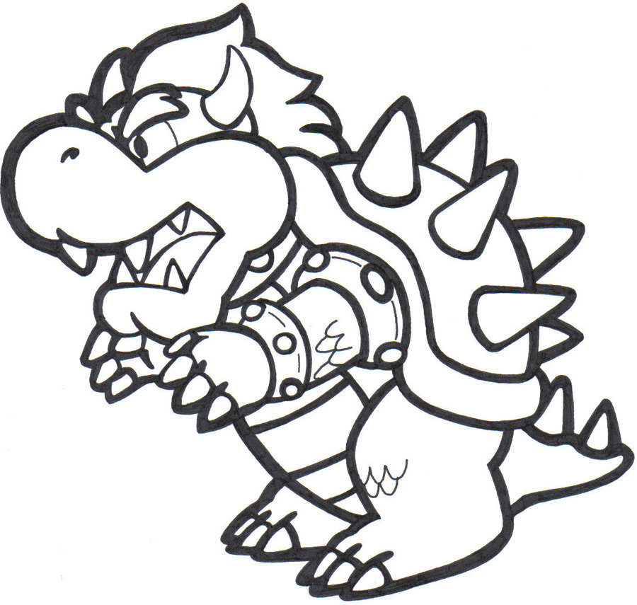 mario bowser coloring pages - Bowser Coloring Pages