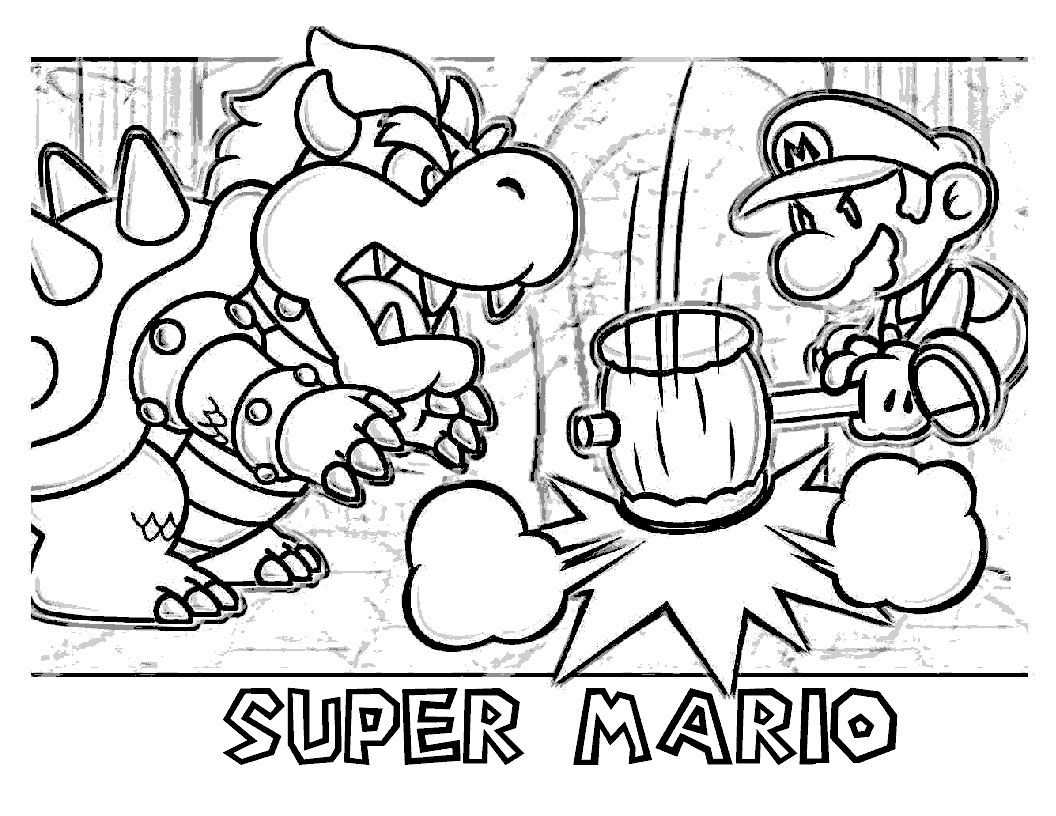 mario bowser coloring pages - Super Mario Bowser Coloring Pages