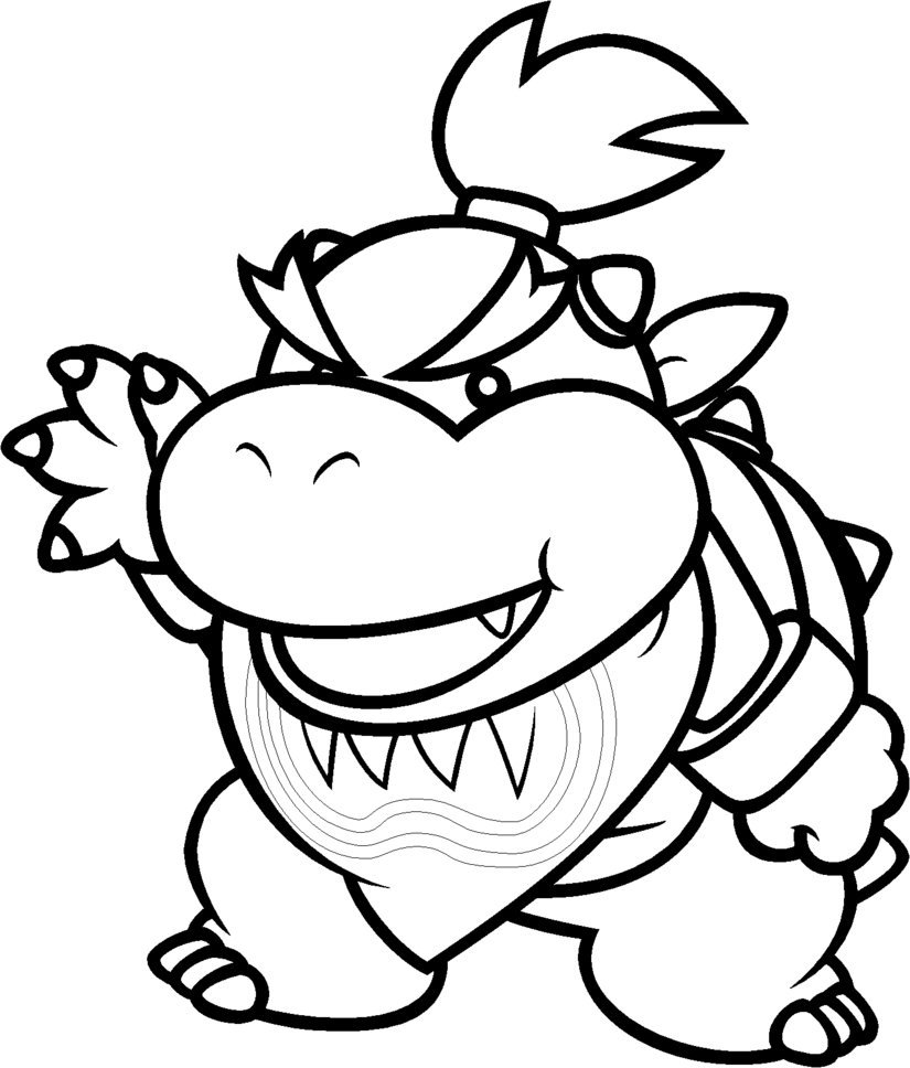 mario bowser coloring pages - Mario Coloring Page