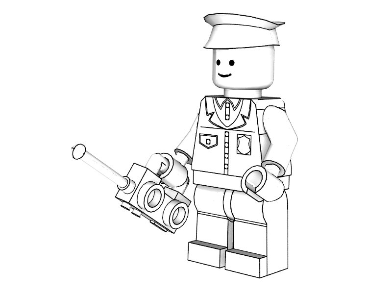 police coloring pages - Lego City Airplane Coloring Pages