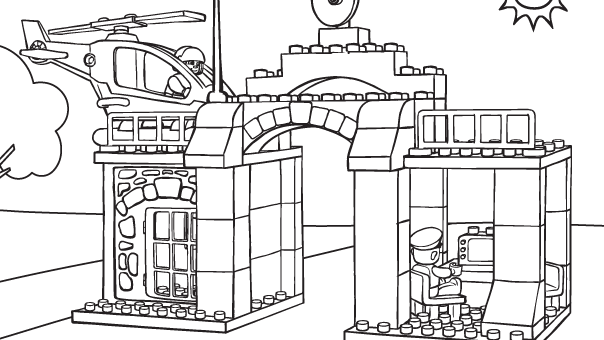lego police coloring pages - Police Coloring Pages