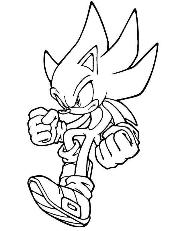 Super Sonic Coloring Pages Coloring Coloring Pages