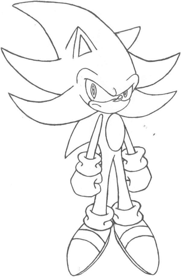 Super Sonic Coloring PagesSonicPrintable Coloring Pages Free