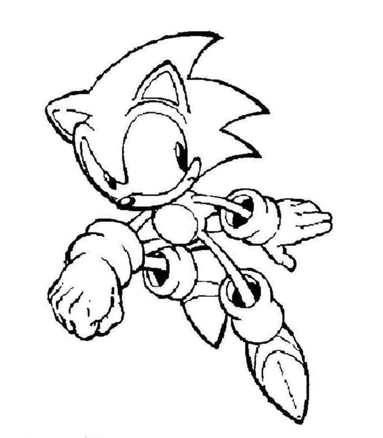 Super Sonic Coloring Pages To Print  Coloring Pages For Kids and